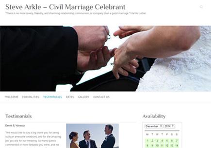 Steve Arkle - Civil Marriage Celebrant